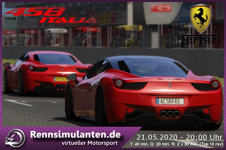 Rennsimulanten Forum Thema 21 05 2020 Ferrari 458 Italia S3 Barcelona 1 1